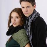 Fashion models as couple looking at camera Royalty Free Stock Image