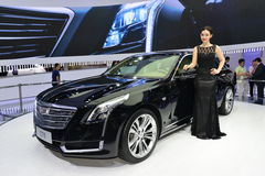A Fashion Model on Cadillac CT6 saloon car Stock Photos
