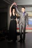 Fashion models on the catwalk Stock Photo