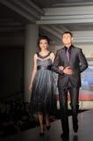Fashion models on the catwalk Stock Photos