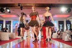 Fashion models on catwalk Royalty Free Stock Image