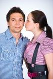 Fashion models couple Stock Image