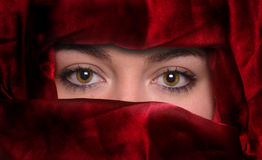 Fashion Models Eyes Stock Image