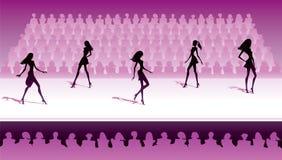 Fashion models make catwalk show Stock Photo