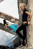 Fashion models outdoor photo Stock Image
