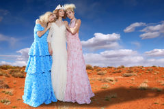 Fashion Models Posing in a National Park Royalty Free Stock Photo