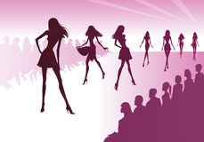 Fashion models represent new clothes. Vector illustration Stock Images