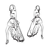 Fashion models sketch Stock Image