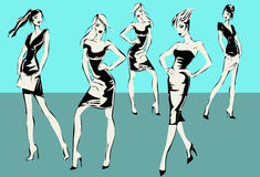 Fashion models in sketch style Stock Photo