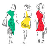 Fashion models. Sketch. Vector illustration Royalty Free Stock Image