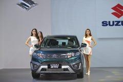 Fashion Models on  SUZUKI VITARA SUV Royalty Free Stock Images