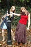 Fashion Models1. Kristina and Rebecca at a Fashion Photo Shoot Stock Photos