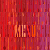 Fashion modern restaurant or cafe menu card design Royalty Free Stock Image