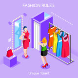 Fashion Moods 01 People Isometric Royalty Free Stock Photos