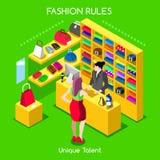 Fashion Moods 05 People Isometric Stock Image