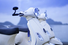fashion motorcyklar gammala två Arkivbilder