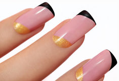 Fashion nails. Royalty Free Stock Image