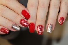 Fashion nails design manicure stock images