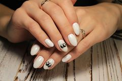 Fashion nails design manicure. Best of 2018 royalty free stock images