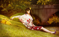 Fashion in the nature Royalty Free Stock Images