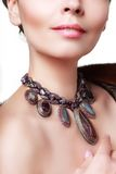 Fashion necklace Stock Images