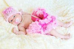 Fashion newborn Royalty Free Stock Photo
