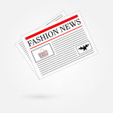 Fashion News Newspaper Headline Front Page Royalty Free Stock Photo