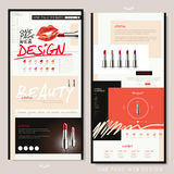 Fashion one page website design Stock Image