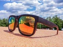 Fashion Orange Eyewear With Polarized Protection Royalty Free Stock Photo