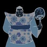 Fashion oriental fat man Royalty Free Stock Image