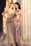 Beautiful young women with dark hair in luxurious evening dresses. Fashion outdoor photo of two beautiful girls with dark hair in luxurious evening dresses royalty free stock image