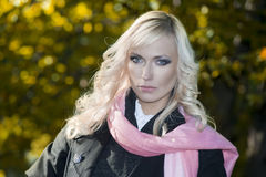 Fashion outdoor portrait Royalty Free Stock Image