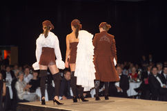 Fashion Parade. Models on Catwalk during a fashion parade Royalty Free Stock Photography