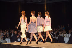 Fashion Parade. Models on Catwalk during a fashion parade Royalty Free Stock Photos