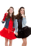 Fashion party teens Stock Images