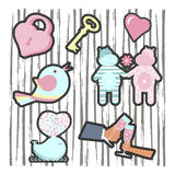 Fashion patch badges Royalty Free Stock Image