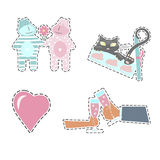 Fashion patch badges Stock Images