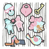 Fashion patch badges Stock Photos