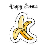 Fashion patch element banana Royalty Free Stock Images