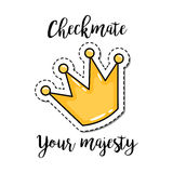 Fashion patch element crown Royalty Free Stock Image