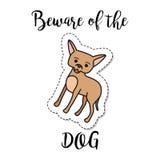 Fashion patch element dog Royalty Free Stock Photo