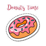 Fashion patch element donut Stock Photography