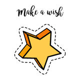 Fashion patch element star Royalty Free Stock Photos