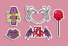 Fashion patches Royalty Free Stock Photography