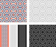 Fashion pattern with circles Stock Photos