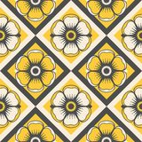 Fashion pattern with flowers Stock Image