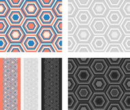 Fashion pattern with hexagons Royalty Free Stock Images
