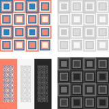 Fashion pattern with squares Royalty Free Stock Image