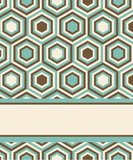 Fashion pattern with hexagons Stock Image