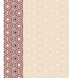 Fashion pattern with hexagons Royalty Free Stock Photo